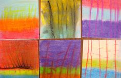 Experiments in Art Education--Wolf Kahn landscapes with chalk pastels Mural Painting, Painting For Kids, Paintings, Art Lessons For Kids, Art For Kids, School Lessons, 2nd Grade Art, Third Grade, Fourth Grade