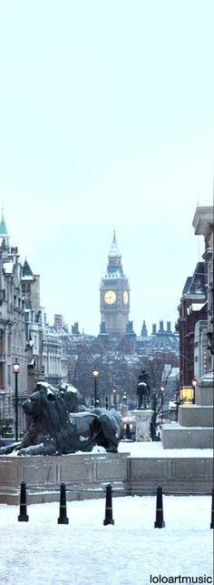 Winter in London, England, UK