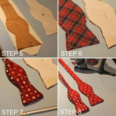 Easy way to transform an out of date tie! Turning Two Dated Old Ties Into One Reversible Bow Tie
