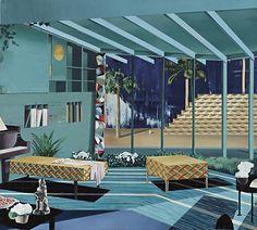 transistoradio:  Matthias Weischer (b.1973), Untitled (2003), oil on canvas, 189.9 x 170.2cm. Via Phillips.