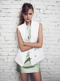 5fc491229fb64d Frida Gustavsson for Tiger of Sweden s Spring 2013 Campaign Metallic Dress