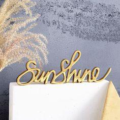 Brass Word Object - Sunshine   west elm