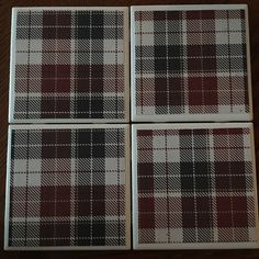 A personal favorite from my Etsy shop https://www.etsy.com/listing/520410579/handmade-coasters-red-and-black-plaid