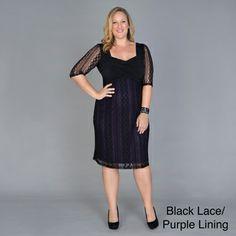 Kiyonna Women's Plus Size 'Burlesque' Lace Overlay Dress