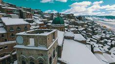 Gangi, Sicily with snow   January 2017