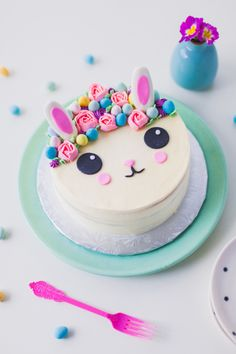 Eggies Flower Crown Bunny Cake by Coco Cake Land