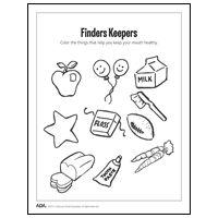 Dental Color page- second graders