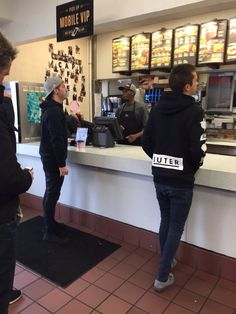 Tyler & Jøsh @ toco bell - tøp |-/-----if only I ran into them in there....