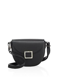 87c41045b6 3.1 Phillip Lim Hana Leather Chain Saddle Bag - Black