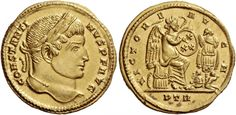 Imperial Rome AV Solidus ND Treveri Mint struck 316AD Constantine I 307-337AD