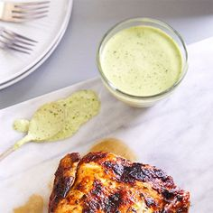 This fresh herb sauce is amazing served with Peruvian Chicken or served over anything from eggs to salads. It's great for dipping fresh veggies in, too. Pampered Chef Recipes, Cooking Recipes, Diabetic Recipes, Peruvian Chicken, Dips, My Best Recipe, Dinner Is Served, Air Fryer Recipes, Fresh Herbs