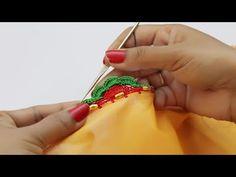 Krosha Design Making Saree Tassels Designs, Saree Kuchu Designs, Silk Saree Blouse Designs, Blouse Neck Designs, Silk Sarees, Embroidery Designs, Gujarati Cuisine, Kali Mata, Lace