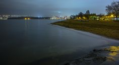 foggy night at the beach with king tide High Tide, Cityscapes, Cities, Mad, Ocean, King, Night, Architecture, Beach