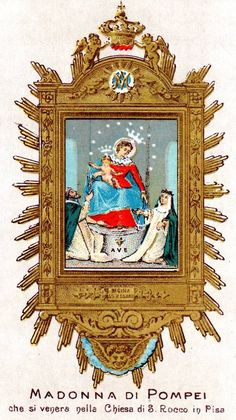 Regina SS Rosarii Our Lady of the Rosary of Pompeii in the church of San Rocco, Pisa. It is a universal custom to pray the rosary in churches, chapels and homes during May, the month dedicated to...