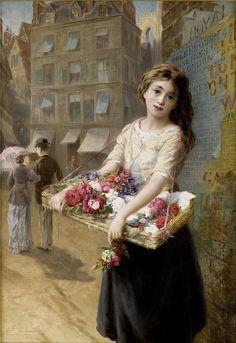Augustus Edwin Mulready - A Street Flower Seller, 1882 // It's About Time: 08/17/15