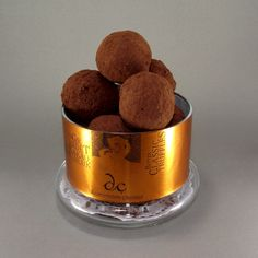 Toz kakao kaplı bitter truffles cam kavanozda www.cikolatalazimmi.com