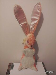Vintage Easter, Vintage Pink, Hunny Bunny, Pink Rabbit, Rabbit Toys, Bunny Plush, Vintage Branding, Holiday Fun, Bunnies