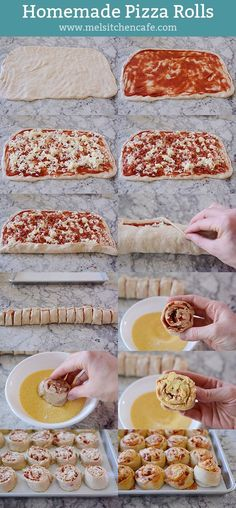 Homemade Pepperoni Pizza Rolls - for school lunches