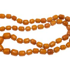 Vintage Butterscotch Amber Trade Bead Necklace
