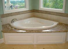 Drop in corner tub bathroom whirlpool tubs bath and. Marble Bathtub, Tub Tile, Bathtub Surround, Shower Surround, Bathtub Makeover, Log Home Interiors, Whirlpool Bathtub, Jetted Bathtub, Jacuzzi