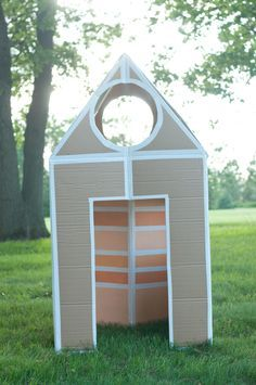 Endless Summer Projects: Collapsible Cardboard House - this heart of mine
