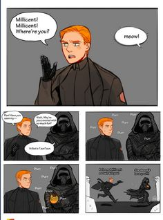 Hux and his cat <><> OH MY GOODNESS! I love this comic. ;D