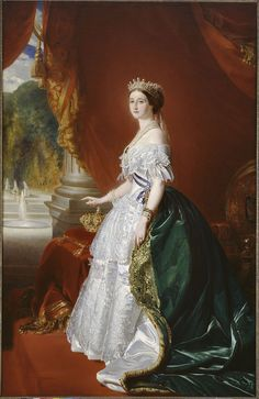 Parures et bijoux des musées nationaux de Malmaison et du palais de Compiègne, Les collections, Colliers http://www.bijoux-malmaison-compiegne.fr/html/13/collection/img/zoom/ch_80.jpg  Eugenie of Montifjo de Guzman, countess of Teba, Impress of the French.   By Franz Xaver Winterhalter.  National museum of chateaux of Versailles and Trianon. Daniel Arnaudet