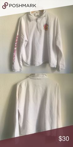 Top Brandy Melville white fun in the sun Archer sweatshirt new with tags Brandy Melville Sweaters