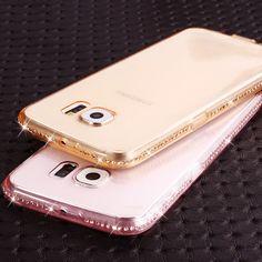 Rhinestone Luxury Soft Silicone Case for Samsung Galaxy