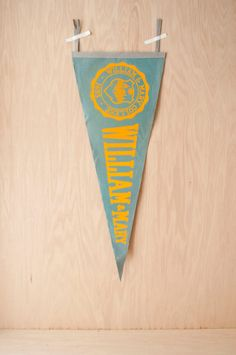 the college of william mary cipher style me prep  faded vintage college pennant william mary by klinker on 25 00
