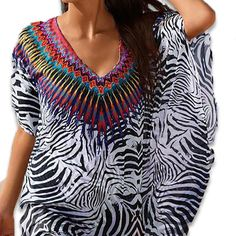 African Leopard Tribal Print Beach Cover Up