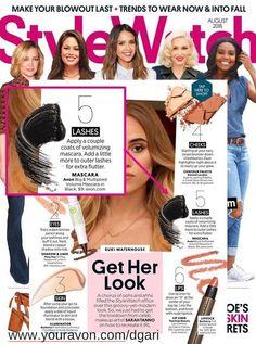 Avon Big & Multiplied Volume Mascara featured in StyleWatch Magazine Aug/2016 https://www.avon.com/product/big-multiplied-volume-mascara-55618?rep=dgari #avon #mascara #makeup #stylewatch #magazine #beauty