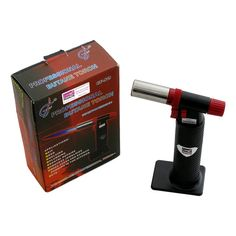 Versatile Cooking Blow Torch - efficient for caramelizing sugar,roasting peppers,charring vegetables,crisping meat,melting cheese,browning meringue and much more
