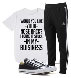 """""""lol"""" by haileyhoksbergen on Polyvore featuring adidas and Converse"""