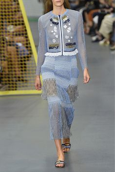 Peter Pilotto | Solar appliquéd corded lace jacket | NET-A-PORTER.COM