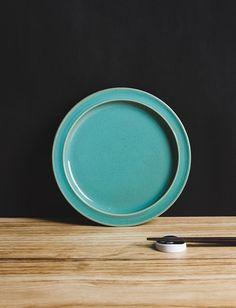 日本 amabro 手工彩釉陶器食盤 青磁