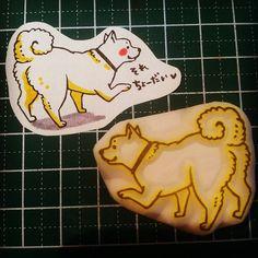 "@mumin0515's photo: ""もふもふケツ毛ワンコの消しゴムはんこ。もふもふ。 #handmade #stamp #dog"""