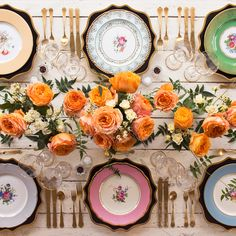 Find Your Colors - How To Set Your Thanksgiving Table Like A Pro - Photos