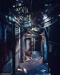 Kowloon Walled City had many narrow paths...