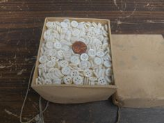 vintage pearl buttons 10 gross NOS by forgrvtx on Etsy
