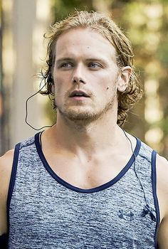 """outlander-news: """" Sam Heughan out and about in New York   July 20, 2016 """" Just on©e more….."""