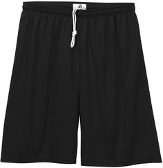 "badger youth 6"" b-dry core shorts - black (s)"