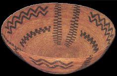 "Antique Giant Yokut basket 24.5"" x 8.24"""