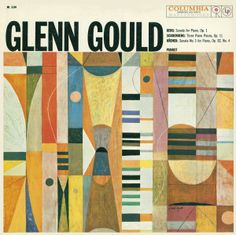 "Canadian pianist Glenn Gould, ""Berg, Schoenberg, Krenek"". Artwork by S. Neil Fujita. Columbia Records, 1959."