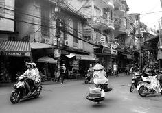 Old market in Hanoi, Vietnam