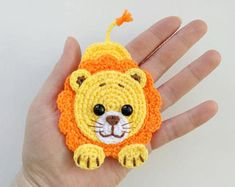 Latest Photos Crochet animals blanket Concepts PATTERN Lion Applique Crochet Pattern PDF Jungle Animal Pattern Safari Zoo Animal Pattern Instant D Applique Patterns, Baby Patterns, Knitting Patterns, Crochet Patterns, Crochet Ideas, Appliques Au Crochet, Crochet Motifs, Crochet Hooks, Crochet Baby