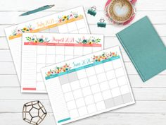 Free Printable 2021 Floral Calendar Free Calendars To Print, Print Calendar, Kids Calendar, 2021 Calendar, Unicorn Printables, Floral Printables, Free Printables, Meal Planning Printable, Free Printable Calendar