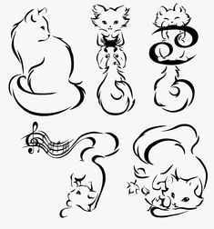 Minimalism Kitties Commission by manic-goose on deviantART