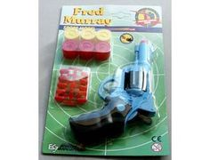 The Edison Fred Murray is a soft pellet gun set that is perfect for children and adults to play with. This gun fires soft 'gummy' pellets (never fire the gun at the face). This model includes an 6 shot pistol, pellets and various targets.