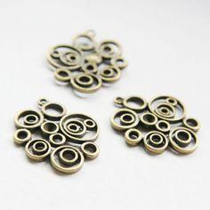 10pcs-Antique-Brass-Base-Metal-Link-Swirl-32x28mm-26357Y-O-206B